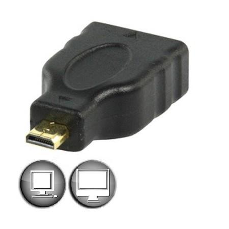 Adaptateur micro HDMI mâle / HDMI femelle - ADHD253