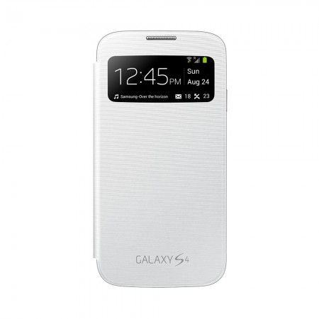 Coque S-View Cover pour SAMSUNG Galaxy S4 - Blanc