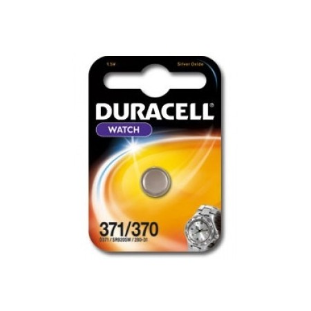 Pile de montre 370/371 DURACELL - SR920SW - Oxyde d'argent