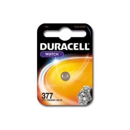 Pile de montre 377 DURACELL - Blister de 1 - SR626SW - Oxyde d'argent