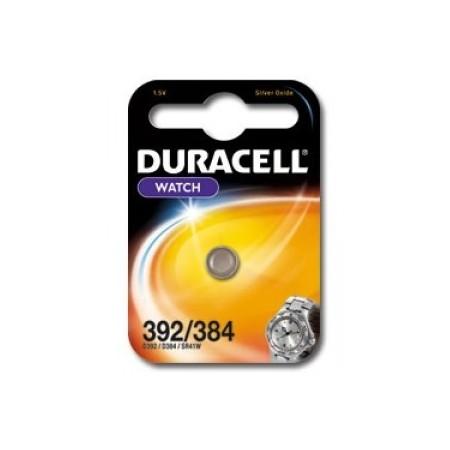 Pile de montre 392/384 DURACELL - Blister de 1 - SR41SW - Oxyde d'argent