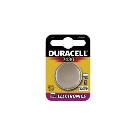 Pile électronique CR2430 DURACELL - Blister de 1 - Lithium 3V