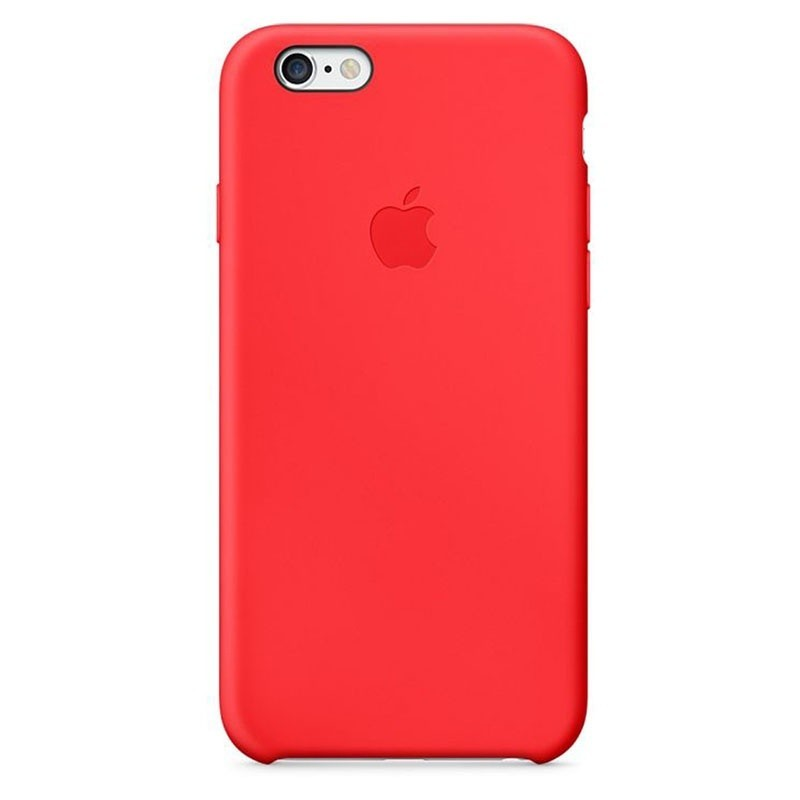 coque en silicone apple pour iphone 6 plus mgrg2zma rouge