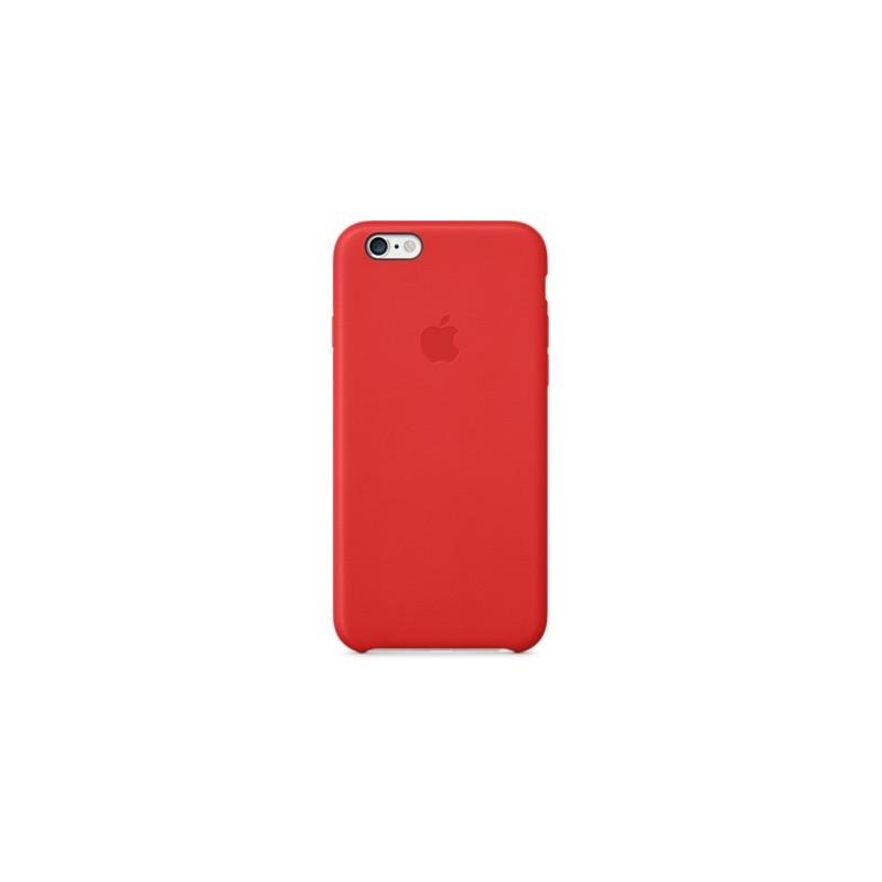 coque en cuir apple pour iphone 6 plus mgqy2zm a rouge. Black Bedroom Furniture Sets. Home Design Ideas