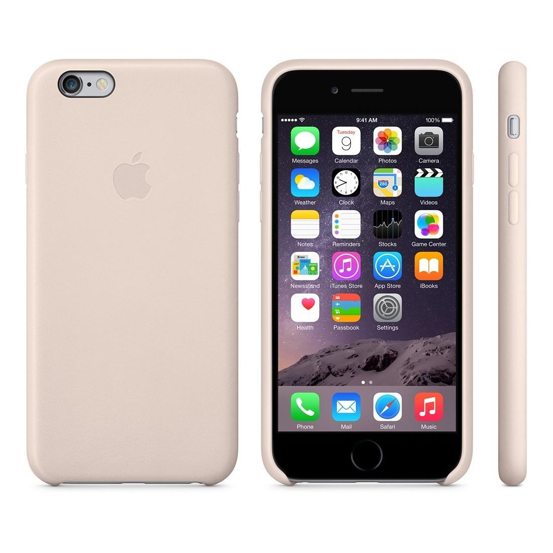 coque iphone 6s cuir rose