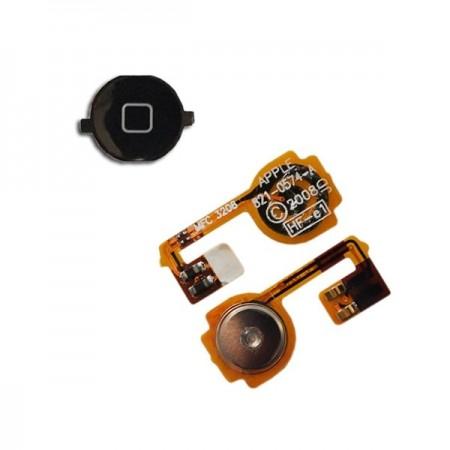 Nappe + Bouton Home noir pour IPHONE 3GS