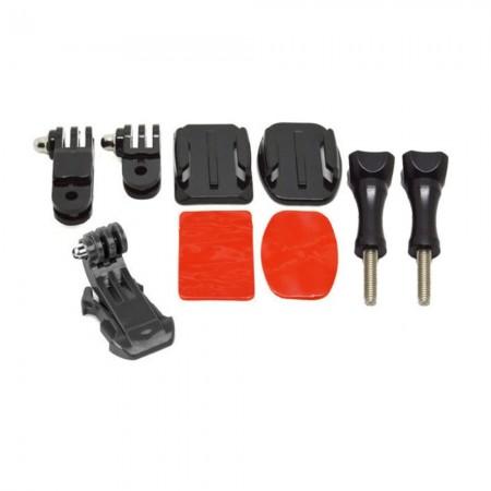 Support Casque - Compatible GoPro & SJ4000 - Noir