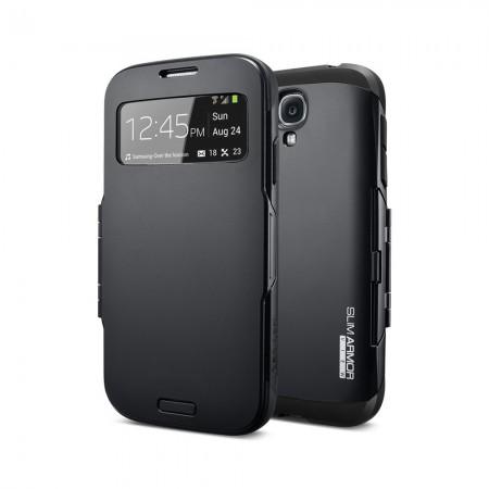 Coque Armor S-View pour SAMSUNG Galaxy S4 - Noir