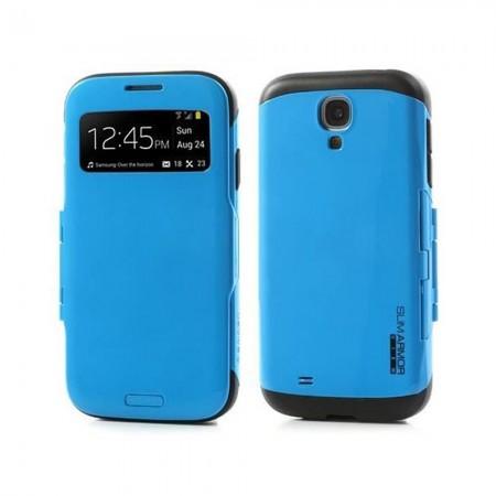 Coque Armor S-View pour SAMSUNG Galaxy S4 - Bleu