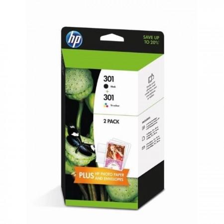 Pack HP n° 301 - 3 Couleurs + 1 Noire ( J3M81AE N9J72AE )