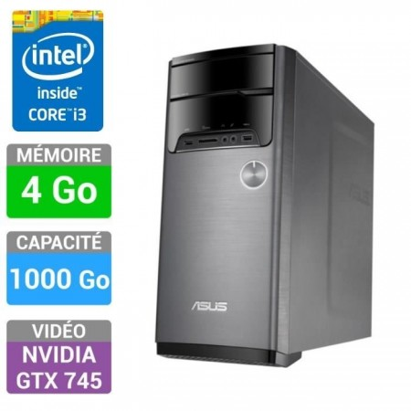 ASUS I3 / 4Go / 1000Go / GTX745 4Go - M32AD-FR021S