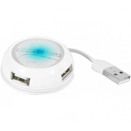 Hub 4 ports usb 2.0 rond blanc lumineux