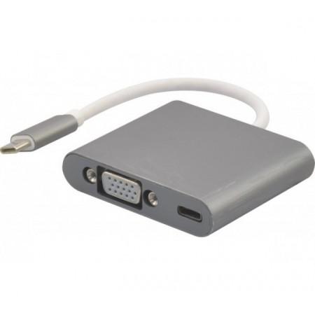 Adaptateur usb 3.1 type-C vers VGA + charge par type-C