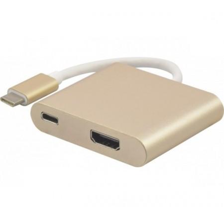 Adaptateur USB 3.1 type-C vers HDMI + charge par type-C