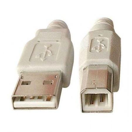Cable USB 2.0 type AB M/M 3 mètres