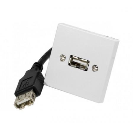 Plastron USB A/A f-f 0,10M
