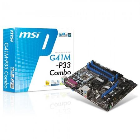 Carte Mère MSI G41M-P33 Combo