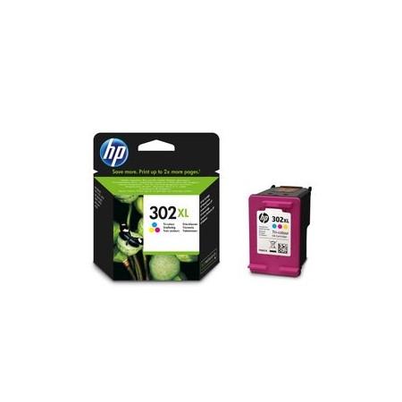 Cartouche 3 couleurs HP 302 XL - F6U67AE