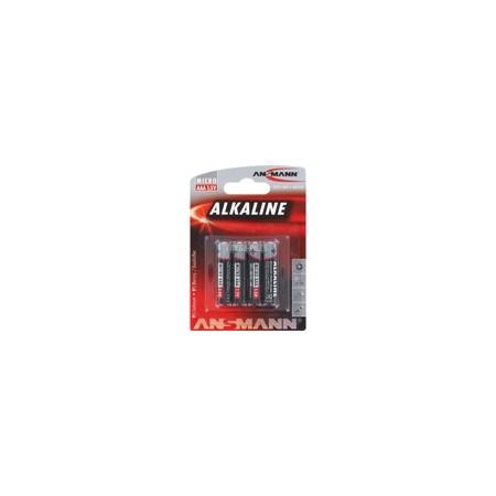 Piles Alcalines LR03  AAA 1.50V 1200mAh x4 ANSMANN