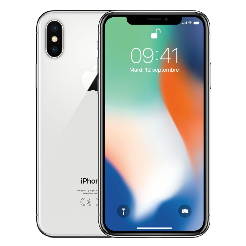 Apple iPhone X 256 Go Argent