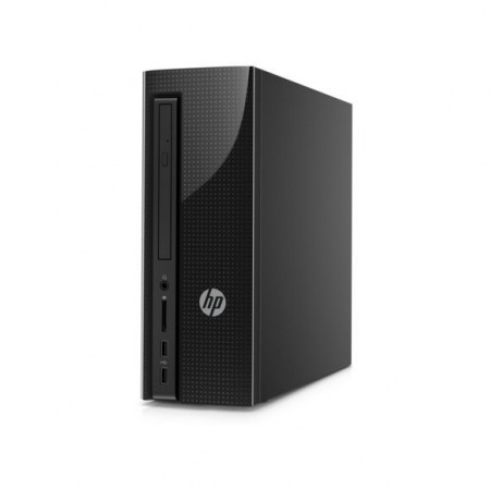 HP - Slimline 260-a101nf - Noir - AMD E2 7110 - 4Go de RAM - Disque Dur 500 Go HDD - AMD Radeon R2 - Windows 10 - Y4L49EA-ABF
