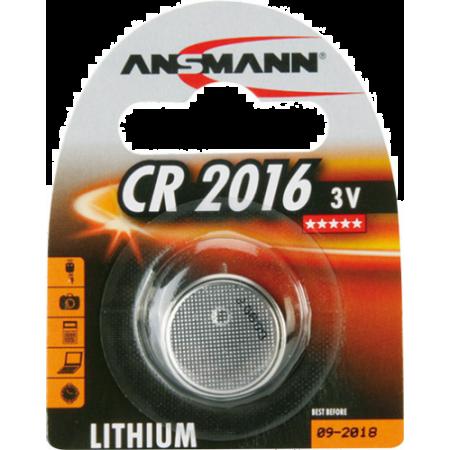 PILE CR2016 LITHIUM 3V 75mAh x1 ANSMANN