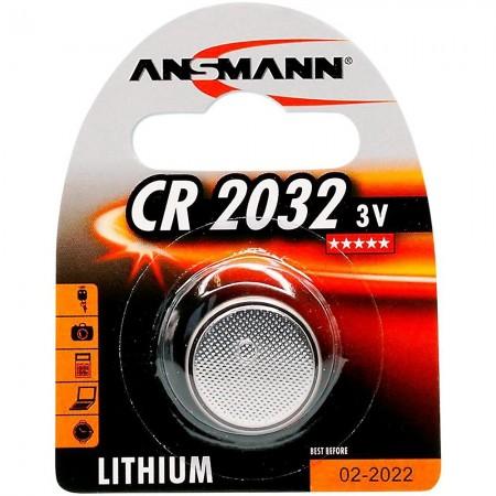 Pile électronique CR2032 ANSMANN - Blister de 1 - Lithium 3V - 210mAh