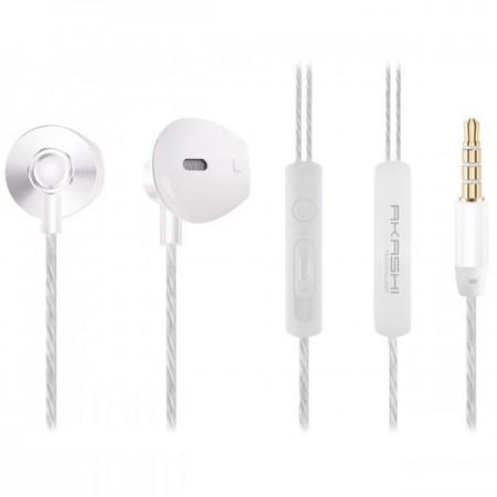 Ecouteurs AKASHI intra-auriculaires avec télécommande et microphone jack 3.5 mm