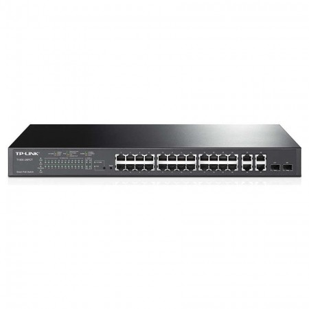 Switch 24 ports PoE+ 10/100Mbps administrable niveau 2 + 4 ports Gigabit